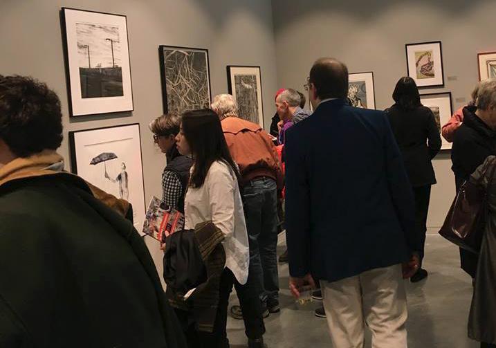 2017 North American Print Biennial, Lunder Arts Center Cambridge MA